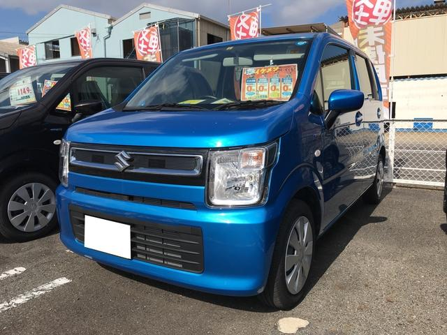 スズキ ハイブリッドFX 軽自動車 ブルー 整備付 CVT 保証付