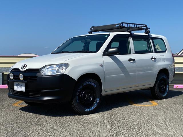 トヨタ プロボックス DXコンフォート カスタム リフトアップ マッドタイヤ ルーフラック 各マットブラック塗装 社外ナビ  バックカメラ ETC