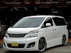 ヴェルファイア3.5V Lエディション 車高調 9インチナビ ベージュ革