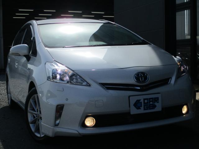 トヨタ プリウスアルファ Gツーリングセレクション Bluetoothナビ ガラスルーフ SDナビ フルセグ バックモニター ETC LEDヘッドランプ フルコン