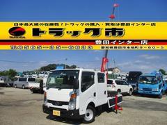 アトラストラックWキャブ 4WD 簡易クレーン付 リモコン リアヒーター