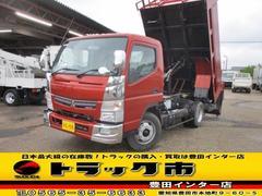 キャンター深ダンプ 中型ワイド 4トン 土砂禁 セミAT車