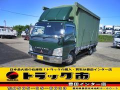 キャンター幌 カーテン車 ワイド ロング