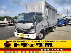 ダイナトラック平ボディ 2t超ロング5m長 幌カーテン車ナビ付 荷台鉄板張