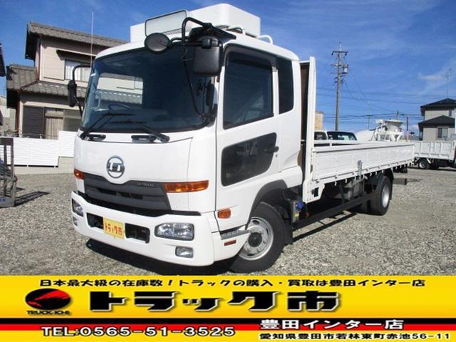 UDトラックス 平ボディ 積載3.9t ベット付キャブ AAC 矢崎デジタコ
