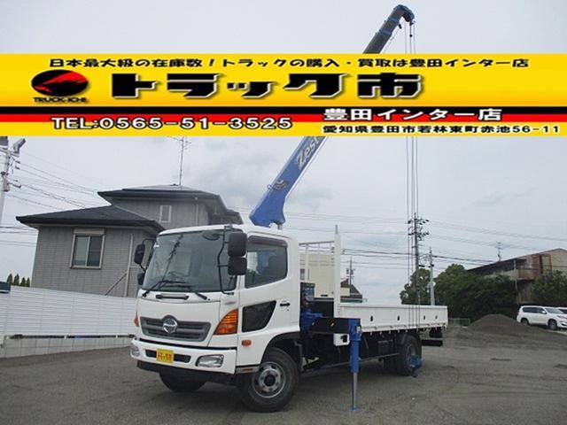 日野 4段クレーン ラジコン タダノ 新車時架装 AT車