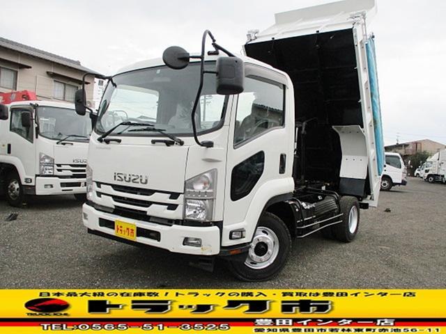 いすゞ 強化ダンプ 新明和 自動コボレーン 積載3.8トン ETC