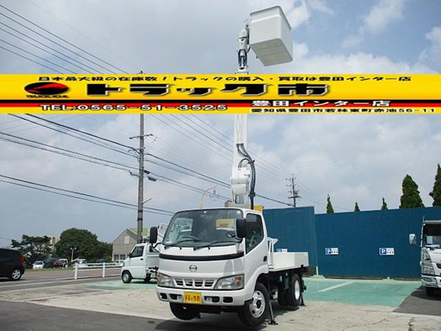 日野 デュトロ 高所作業車 アイチSS10A FRPバケット 作業床高9.7