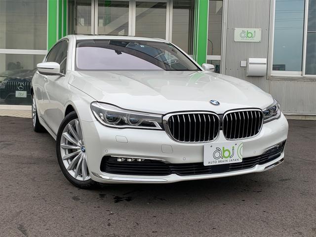 BMW 740i 1オーナー/禁煙車/ブラウンレザー/エアーシートシートヒーター/レーザーライト/GPSレーダー/サンルーフ/パワートランク/純正ナビ/ハーマンカードン/360度カメラ/令和2年5月ディーラー点検記録