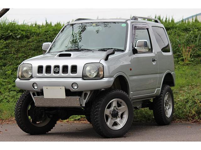 スズキ XC リフトアップ 社外マフラー 社外ナビ 背面タイヤ