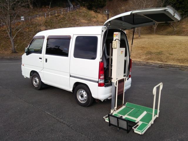 スバル サンバーバン 車いす移動車 車いす2台積 電動リフト福祉車両 タクシー