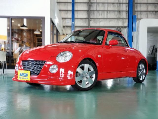 ダイハツ コペン 2ndアニバーサリーエディション 5MT HIDヘッドライト 純正フルエアロ トヨシマクラフト製リヤウィング OL車  屋内展示車