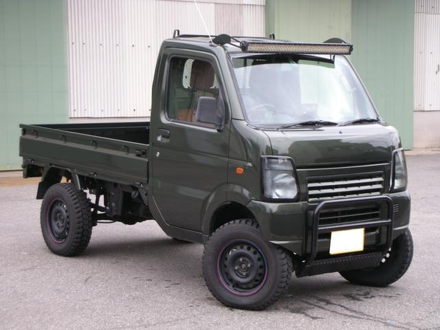 スズキ KCエアコン・パワステ 4WD LEDヘッド リフトアップ