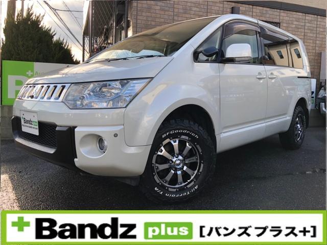 三菱 GナビP/新品タイヤSET/後席モニタ/FSBカメラ/センサ