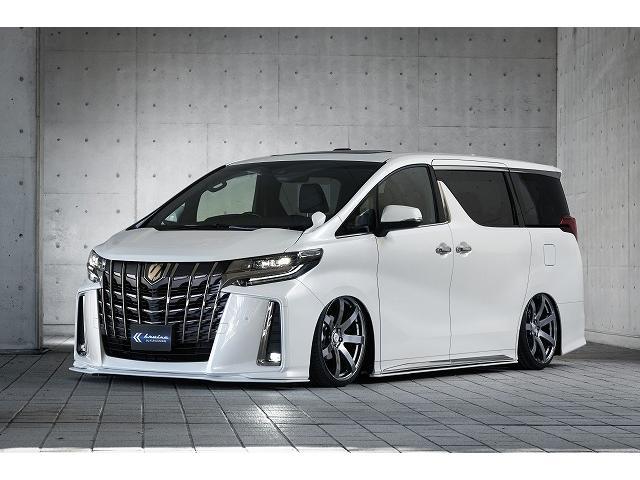 トヨタ アルファード 2.5S KUHL新作薄型フラップエアロ車高調20インチAW