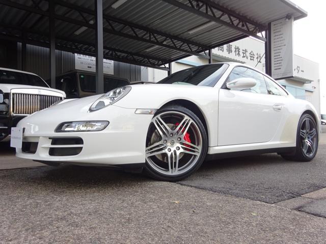 ポルシェ 911 911カレラ4S ディーラー車 スポーツクロノパッケージ 黒革パワーシート 記録簿有 屋内保管 ターボ専用ホイール タイヤ新品交換済み シートヒーター HDDナビ フルセグ ETC バックカメラ 取説保証書スペアキー有