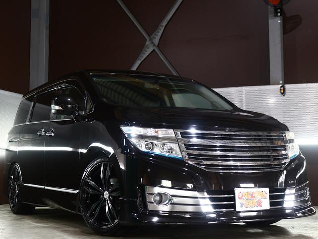 日産 2.5 ライダー20inアルミ/車高調/黒本革シート