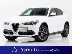 アルファロメオ ステルヴィオ2.0ターボQ44WDスポPKG9インチ純正ナビ赤革新車保付