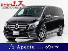 M・ベンツV220dスポーツロングAMGラインフルフラットシート保証付