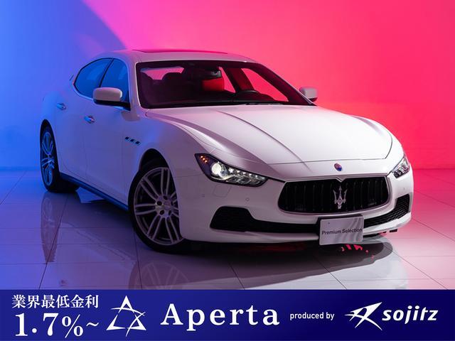 マセラティ 20インチAW正規ディーラー車サンルーフ赤革シート3年保証付