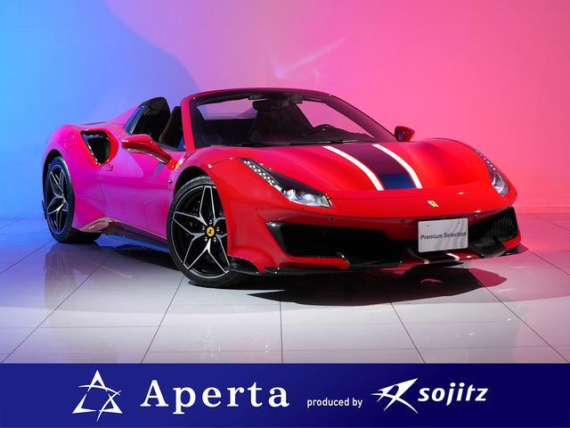 フェラーリ ベースグレード カーボンレーシングシート カーボンファイバーステアリング+LED レディオナビ+Bluetoothシステム 20インチ鍛造AW フロントリフト カーボンリアディフューザー パーキングカメラ