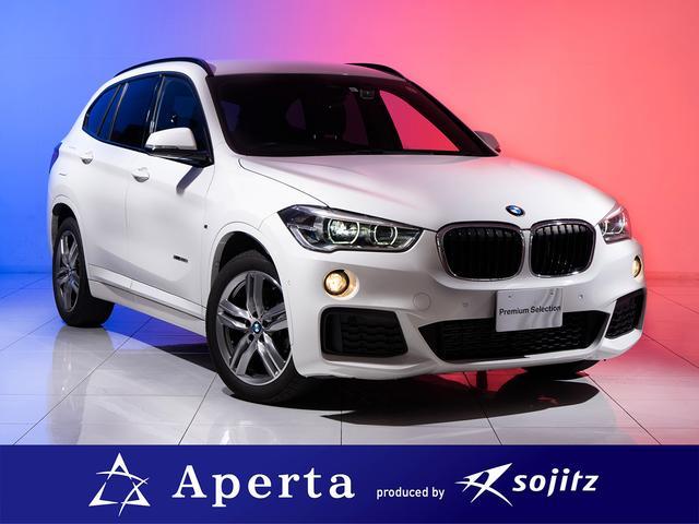 BMW X1 xDrive 20i Mスポーツ 黒革メモリ付きパワーシート 18インチアルミ リアスモーク貼付済 ヘッドアップディスプレイ プッシュスタート アルミニウムパネル シートヒーター Mスポーツステアリング 安心保証付