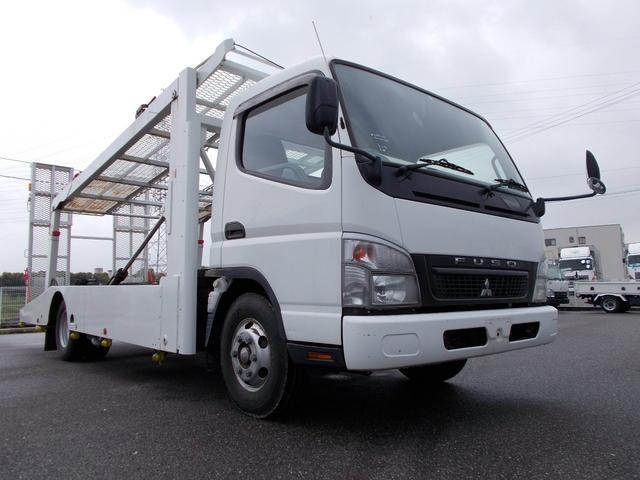 三菱ふそう 全低床 キャリアカー2台積載車 ラジコン 積載量2.85t