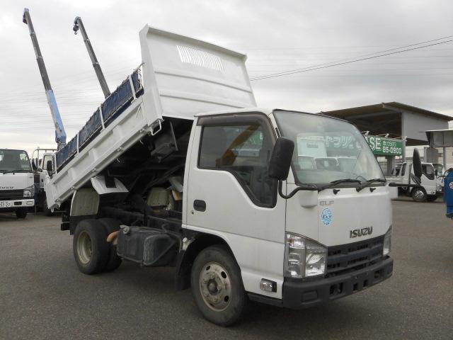 いすゞ 3方開2トン積高床ダンプ・コボレーン付・排出ガス浄化装置