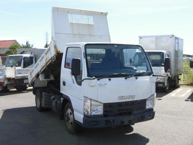 いすゞ エルフトラック 強化ダンプ 全低床・2トン積強化ダンプ4WD・3方開・コボレーン付