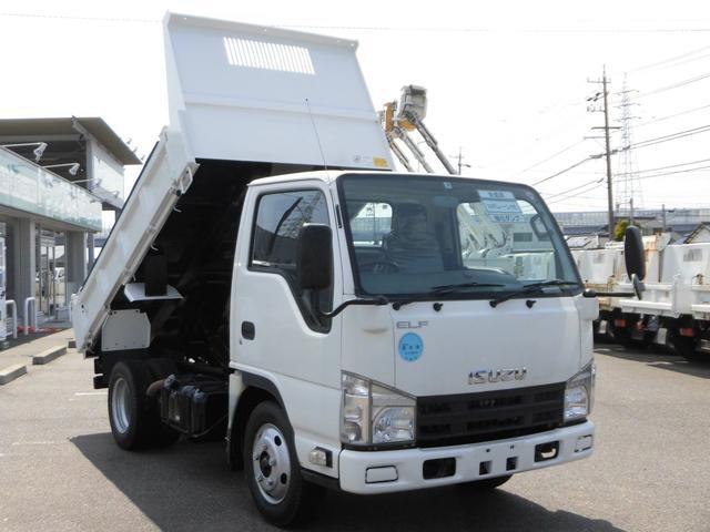いすゞ 全低床3トン積強化ダンプ・コボレーン付 車両総重量5,985kg・キーレス・ETC付・坂道発進補助装置・ASR