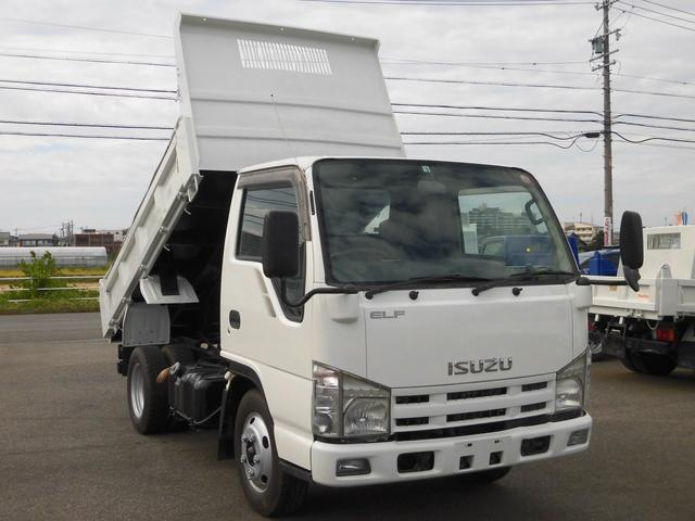 いすゞ エルフトラック 全低床3トン積強化ダンプ 6速MT車・コボレーン付・ETC・坂道発進補助装置・集中ドアロック