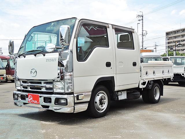 マツダ タイタントラック  Wキャブ 1.5t キーレス クラリオンナビTVバックモニター付(NX613) 左電動格納ミラー