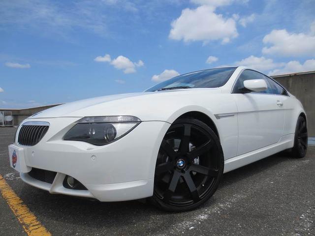 BMW 650i HDDナビ ETC 黒革 サンルーフ 21AW