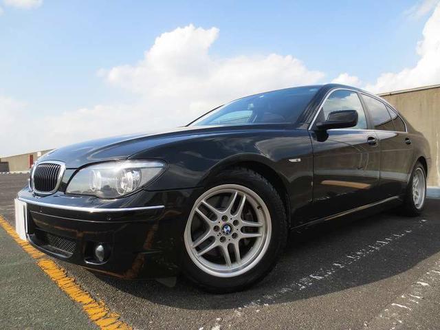BMW 740i HDDナビ ETC SR 黒革 純正18AW