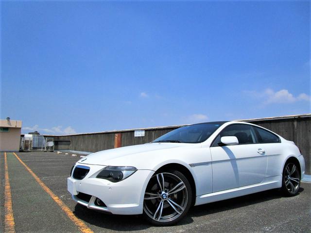 BMW 6シリーズ 630i 純正ナビ ブルートゥースオーディオTM 6CD MD コーナーセンサー ETC ブラックレザー パワーシート シートヒーター セミオートマ プッシュスタート キーレス 20インチアルミ