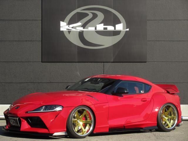 トヨタ スープラ RZ KUHL-RACINGワイドボディコンプリートカー/ローダウンサスペンション/VERZ20インチアルミホイール/4本出しマフラー