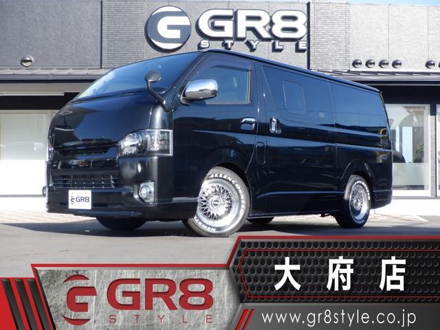 トヨタ  ブラックグリル/LEDヘッドライト/SD地デジナビ/Bモニター/ETC/ESSEX16inアルミ/Wエアバック/LEDヘッドライト/ユーロボンネット/レザー調シートカバー/LEDテール/ローダウン