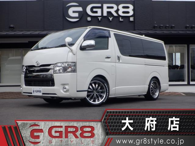 トヨタ スーパーGL ダークプライム 大型フローティングナビ/12.8inフリップダウンモニター/18inアルミ&ホワイトレタータイヤ/スマートキー/ローダウン/LEDヘッドライト/415コブラLEDテール/ベッドキット