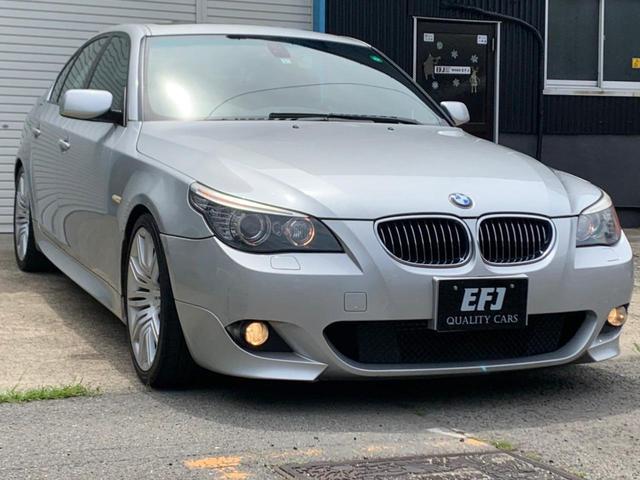 BMW 5シリーズ 530i Mスポーツパッケージ 後期モデル ガラスサンルーフ OP19インチホイール 本革シート シートヒータ 車検令和4年1月 純正ナビ