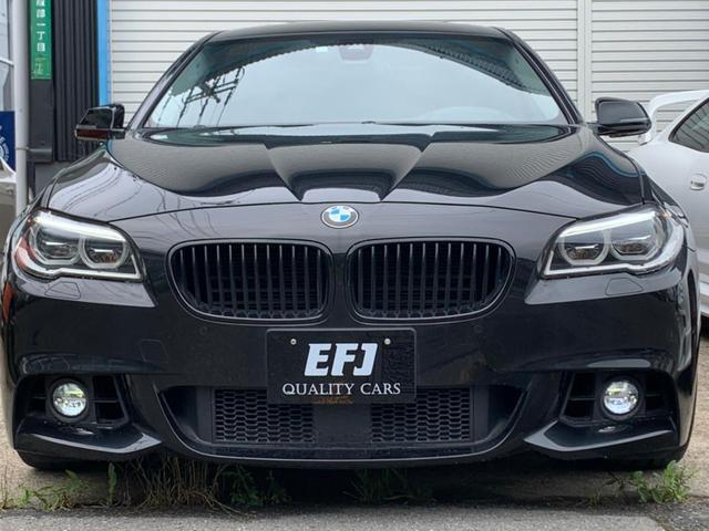 BMW 5シリーズ 528iラグジュアリー 車検令和5年10月 左ハンドル 後期型 LEDヘッドライト ブラックサファイアメタリック Мスポーツフロントバンパー ダコタレザ専用ステッチーシート