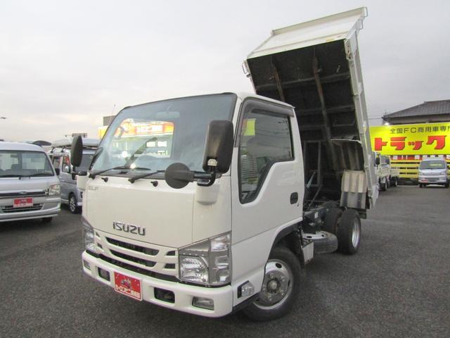いすゞ エルフトラック 強化ダンプ 2トン新明和強化ダンプ リアピン付き 全低床 5MT 坂道発進補助装置 排ガス浄化装置 総重量5トン未満