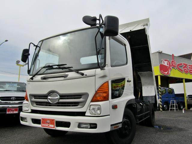 日野 ダンプ 極東製積載4トン強化ダンプ 電動コボレーン 6MT 排ガス浄化装置 車両総重量8トン未満