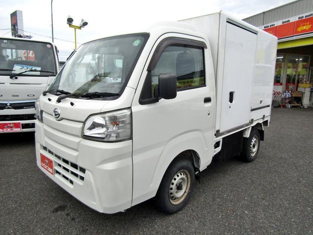 ダイハツ  DENSO製-7度設定表示 FRP中温冷凍車 左サイドドア 木製2段棚 オートマ車