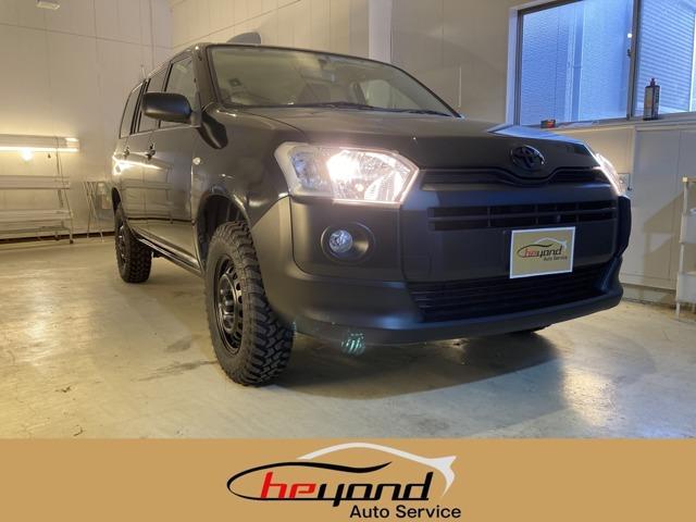 トヨタ プロボックス F 4WD/リフトアップ/ETC/マットブラック塗装/ブラック/全席パワーウィンドウ