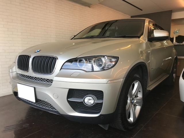 BMW X6 xDrive 35i 赤革シート ミネラルシルバー ガレージ保管 ワンオーナー 記録簿あり サンルーフ 電動リアゲート 純正ナビ バックカメラ ドライブレコーダー