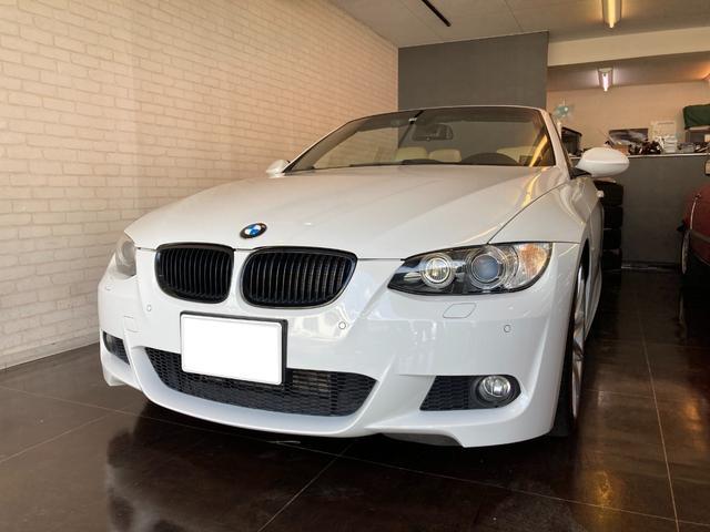 BMW 3シリーズ 335iカブリオレ ガレージ保管 記録簿あり クリームレザーシート ドライブレコーダー ETC パワーシート