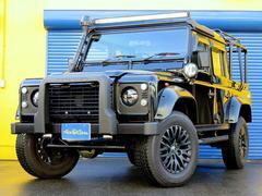 ランドローバー ディフェンダーブラック ピックアップ ディーゼル ディーラー車 18アルミ