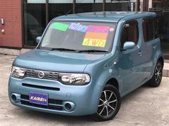 キューブ15X FOUR インディゴ+プラズマ 4WD純正ナビTV