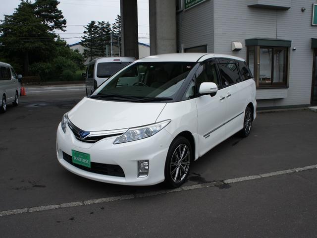 トヨタ エスティマハイブリッド G HDDナビ 4WD