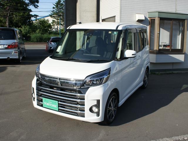 三菱 eKスペースカスタム カスタムT セーフティパッケージ アラウンドビューモニター ナビTV&バックカメラ 4WD